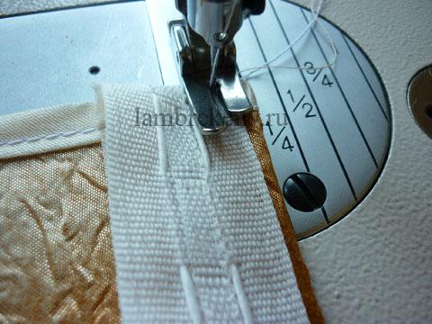 Как пришить ленту на штору своими руками